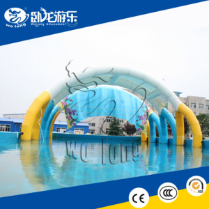 Commercial used metal steel frame pool with tent for swimming
