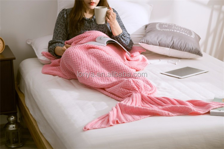 High end Warm mermaid tail promotional gift blanket 2017 hot selling in Europe