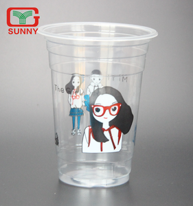 Personalized Transparent Disposable Smoothie Plastic Cups