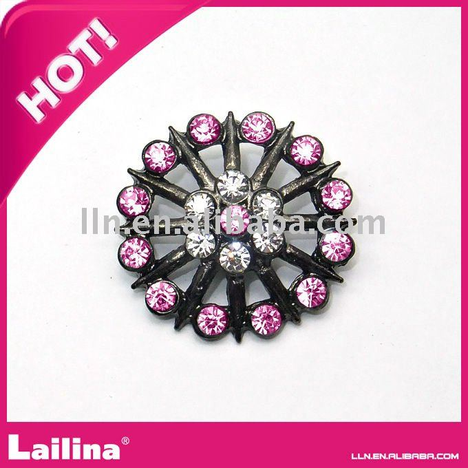 23MM,High Quality Acrylic Rhinestone Button of Plastic with Shank, Decorative Buttons For Crafts,100pcs/lot