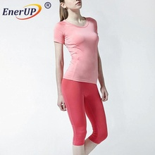 Sample free Promotional Women underwear Copper Compression Long Sleeve Sport wear Shirts