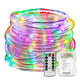 Ehome Fairy Lights LED Rope Battery Operated String 33ft 8 Mode Waterproof with Remote Timer