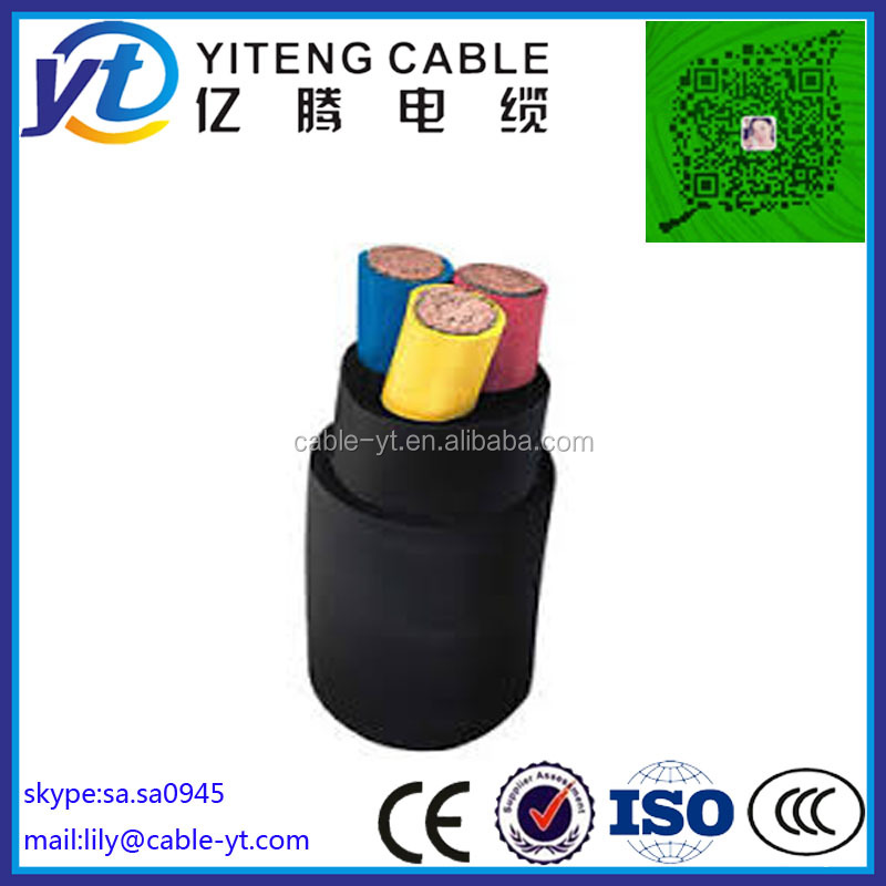 3x6mm 4x6mm 5x6mm Electric Cable With Pvc Sheath Or Rubber Sheath ...