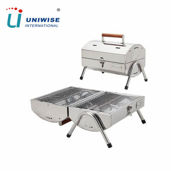 Portable Mini Tabletop Stainless Steel Stand Bbq Grills For Picnic