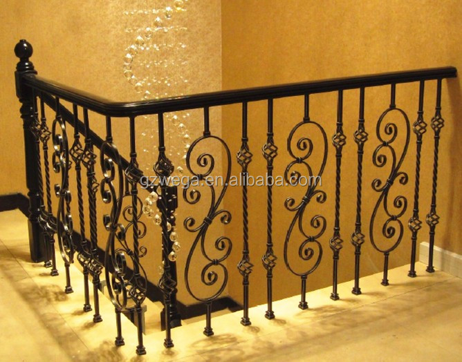 luxury wrought iron stair, antique Italy style stair railing