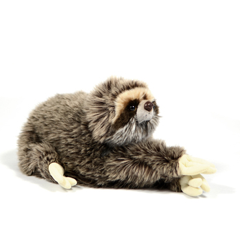 Customize Lifelike Real Fur Wild Plush Sloth Stuffed Animals