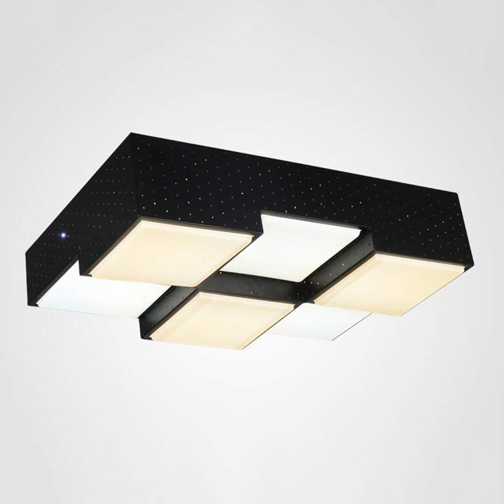 XQY Ceiling Light-Square Led Wrought Iron Double Color Temperature Modern Minimalist Creative Living Room Bedroom Energy Saving
