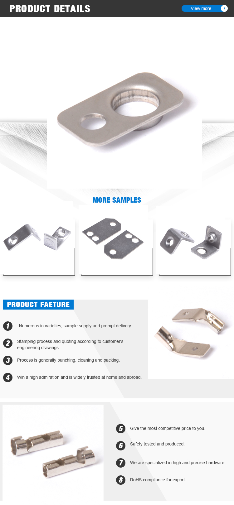 Shenzhen electrical appliances chrome plating steel electric iron parts