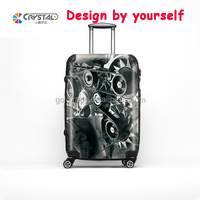 Crystal Patented High qulity business lightweight luggage, aluminium suitcase, Business trip Trolley Case