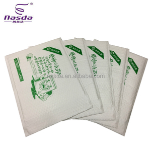 Custom Logo Printed Express Bubble Shipping Envelope Poly Bubble Mailer / Biodegradable Courier Mailing Bag