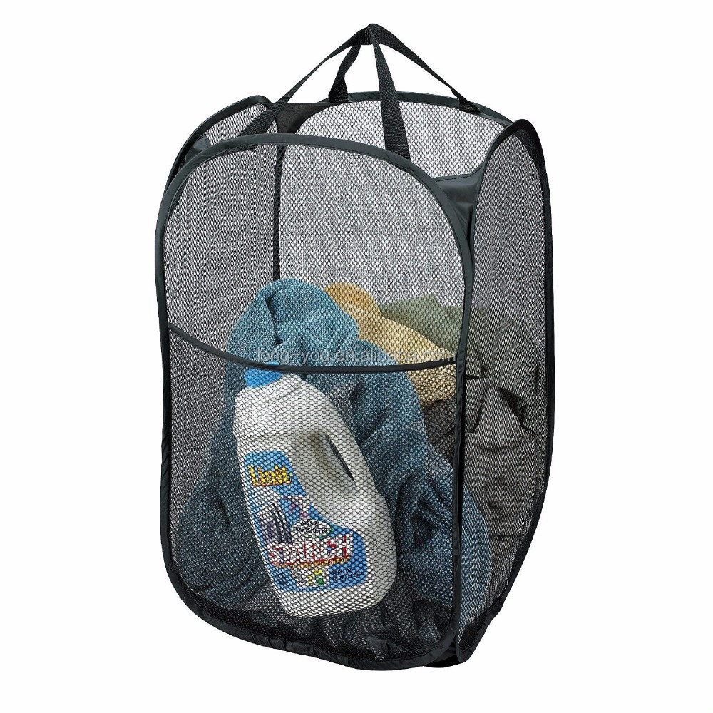 Mesh Pop Up Laundry Hamper Foldable Laundry Basket Buy Folding Laundry Basket Laundry Hamper