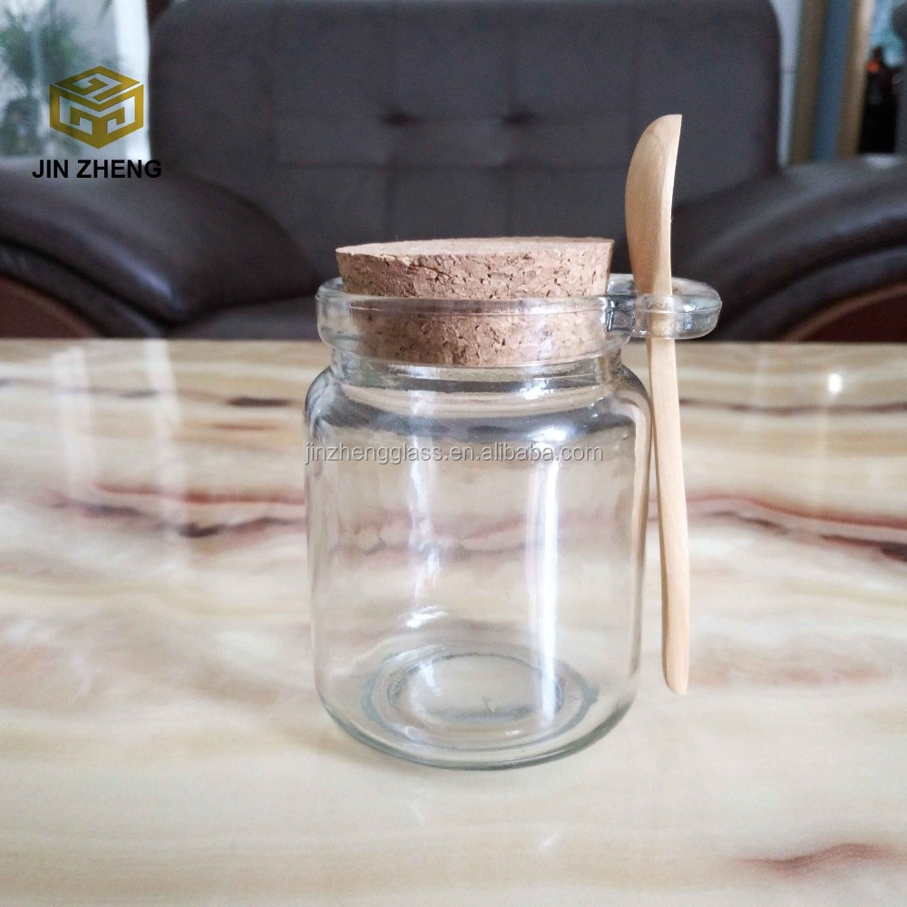 Wooden Top Cork Lids Glass Storage Jars With Lugglass Jars For Home