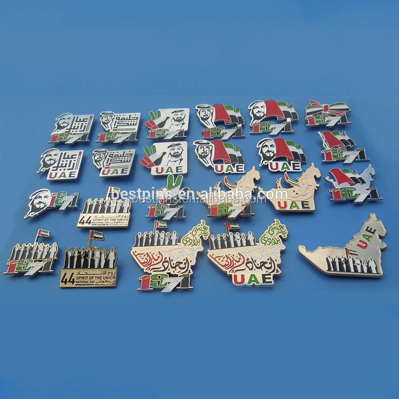 Various Models UAE National Day Badge Gift Magnet Pin 46Years <strong>Design</strong>