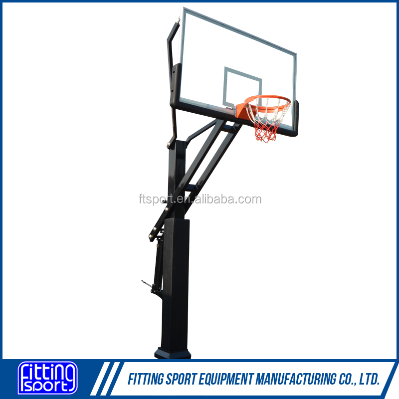 In Ground Outdoor Basketball Hoop 60 inch Tempered Glass
