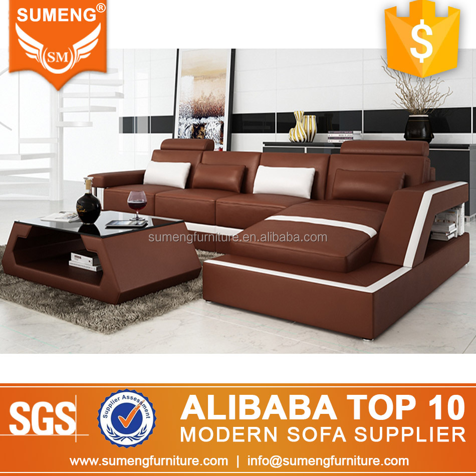 2014 Evergo leather sofa, China leather sofa chaise, Baochi modern sofa
