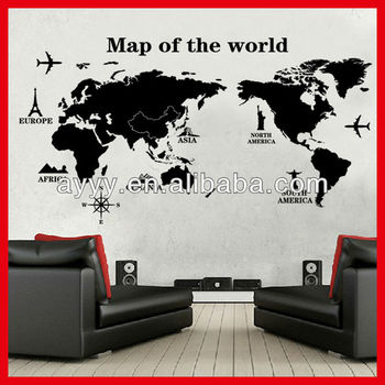 AY9133 Hot Sale Modern Removable World Map Decor DIY Large Wall Sticker  Home Living Room Kids Part 61