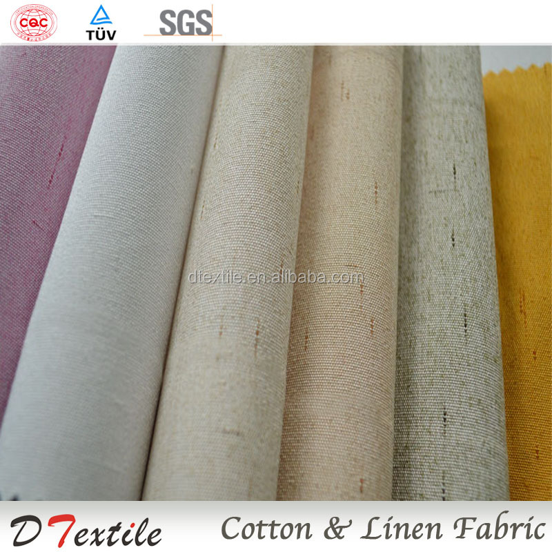 Interior decoration linen fabric upholstery linen cotton linen fabric