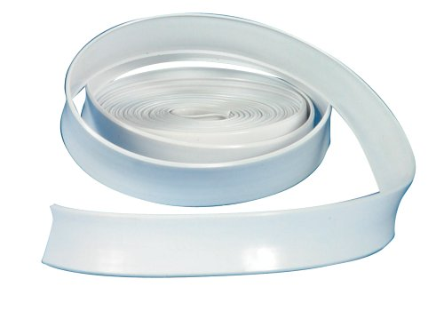 "Camco Vinyl Trim Insert with UV Inhibitors for Extended Life -  Replace Cracked and Stained RV Trim Inserts (1"" x 100', White) (25202)"