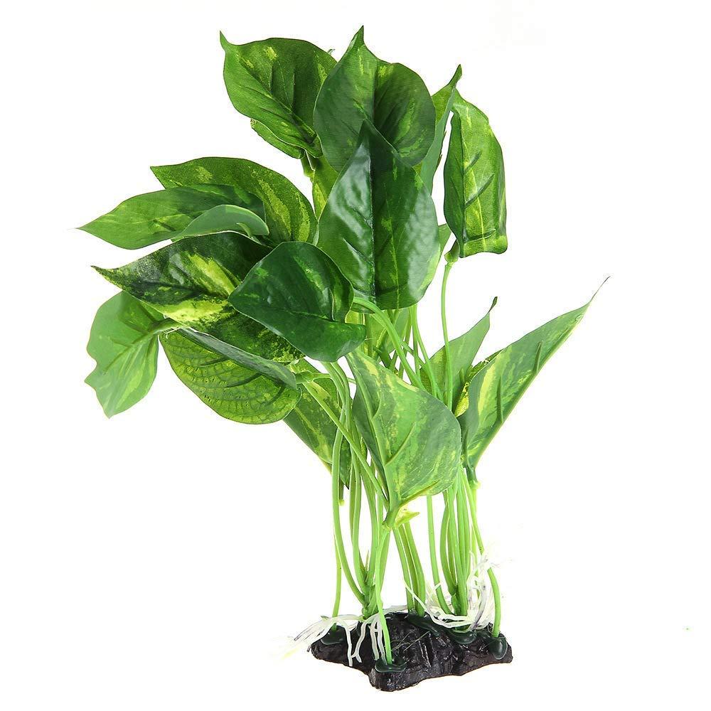 "Danmu 1Pc of Plastic Artificial Plant Aquatic Plants Aquarium Plants for Fish Tank 11"" H"