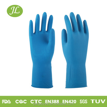 Long Rubber Latex Household Gloves in natural latex and rubber for cleaning and kitchen