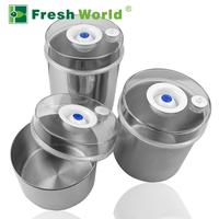 Manufacturer direct supply wholesale price vacuum stainless steel canister