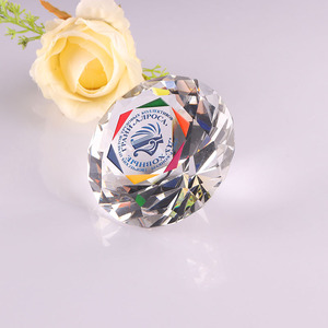 Decorative diamond shaped glass paperweights wholesale bulk crystal diamond painting