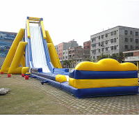 Water park games giant inflatable slide for sale F4072
