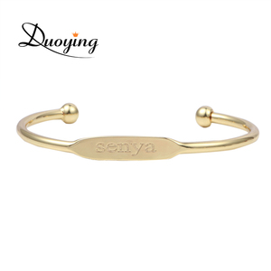 Baby jewelry Fashion Bangle Bracelet Personalized Custom Name Copper Bracelet Initial Engraved Name Gold Love Bangle