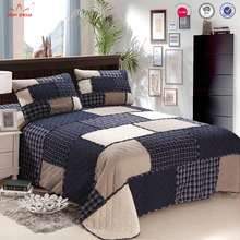 Queen size plaid kant decoratie kids groep OEM beste luchtvaart patchwork <span class=keywords><strong>quilt</strong></span> <span class=keywords><strong>set</strong></span>