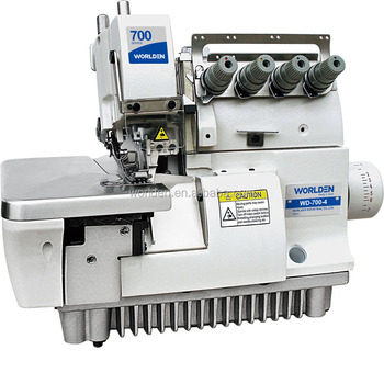 WD-700- 4 Industrial 4 thread Overlock Sewing Machine Low Price Second Hand New Over lock Sewing Machine