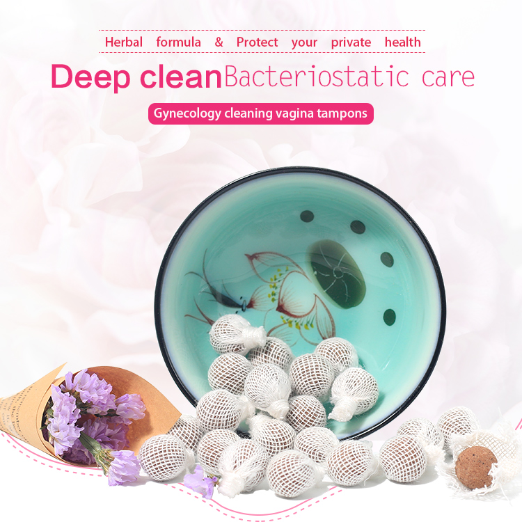 Good effect beautiful life womb clearing healing detox pearl Chinese herbal tampon