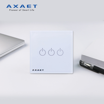 AXAET Patented 3 Gangs Switch Bluetooth Timer Voice Control Touch Sensor Wall Switch with Single Live Line
