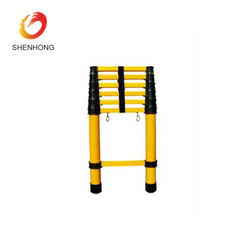 Super light Multi-section Insulated Telescopic Ladder Fiberglass Telescopic Ladder