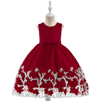 0dd8fc461726 Wholesale Kids Evening Ball Gown Baby Girls Floral Net Birthday ...