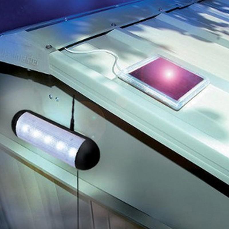 New Outdoor Garden 8 Led Solar Shed Eaves Work Light Lamp: Led Solar Light Outdoor 5LED Solar Lamp Indoor Corridor