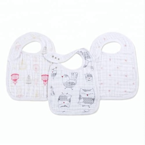 Baby Waterproof Bibs Closure Front-side Unisex Size 12 inches X 8. 5 inches Toddler snap bib