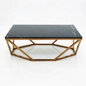 New arrival modern design top metal coffee table