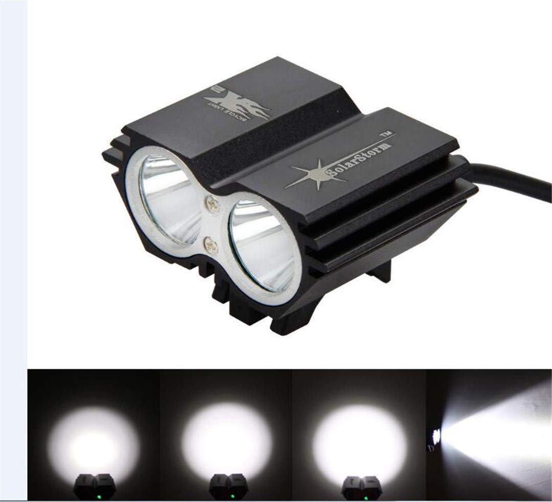 7000Lumens Bike Light T6 LED Cycling Light Headlight Head Front Lights +Back Safety Laser Rear Light Black Bike Light Set