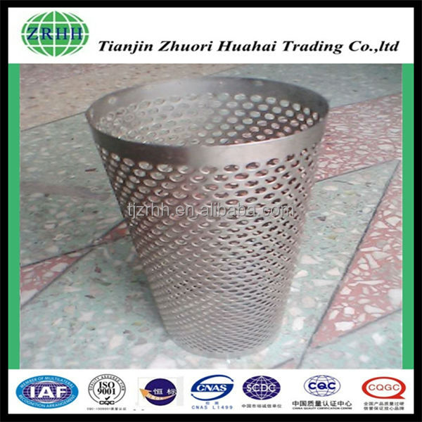 stainless steel 316 wire mesh tube for machine tool industry
