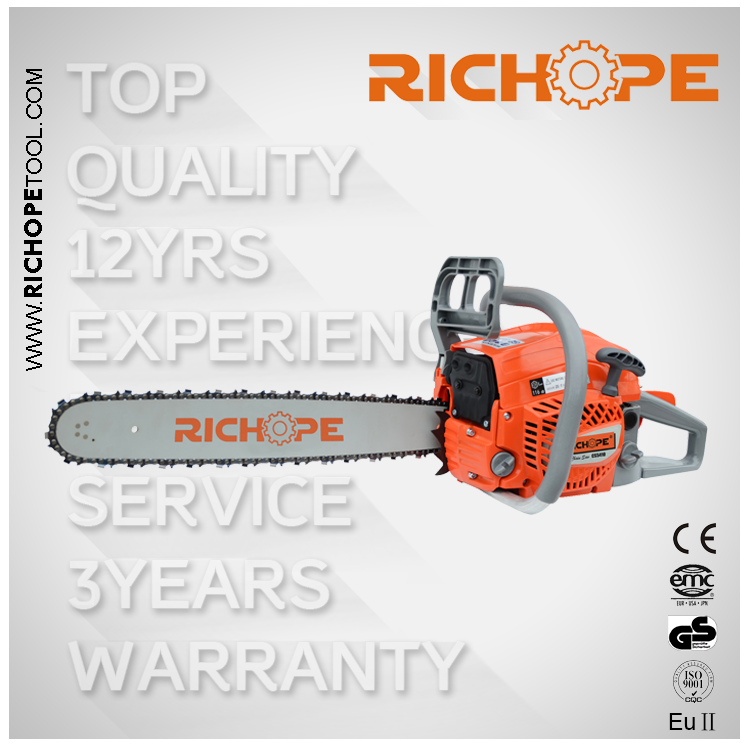 54cc Chain Saw NEW WEST High Quality Chinese Gasoline Chainsaw