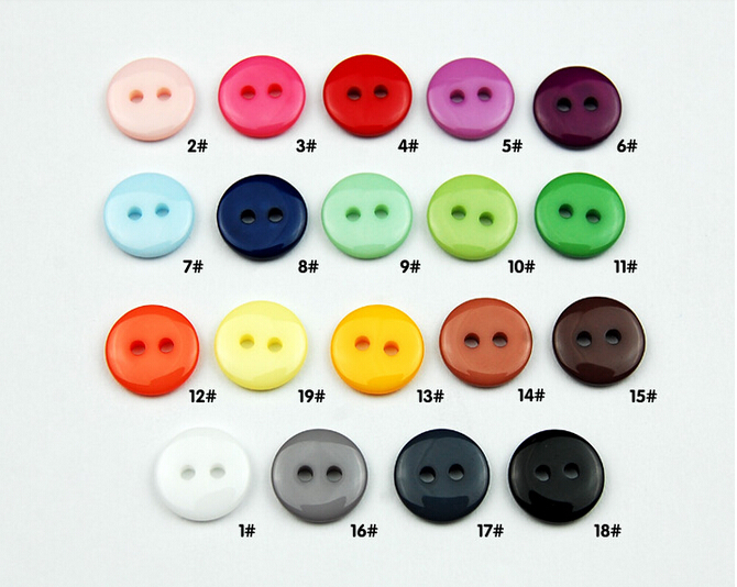 Free Shipping 200pcs mix Assort Plastic candy colors Buttons Scrapbooking Sewing Craft Appliques9mm
