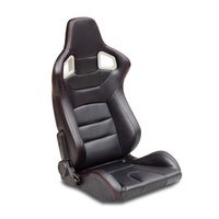 Adjustable Racing Seat PVC Leather sports seat with single sliders / rails for car seat