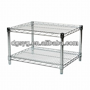 2 Tier Chrome Wire Shelving & Chrome Wire Rack-12 Years Professional ...