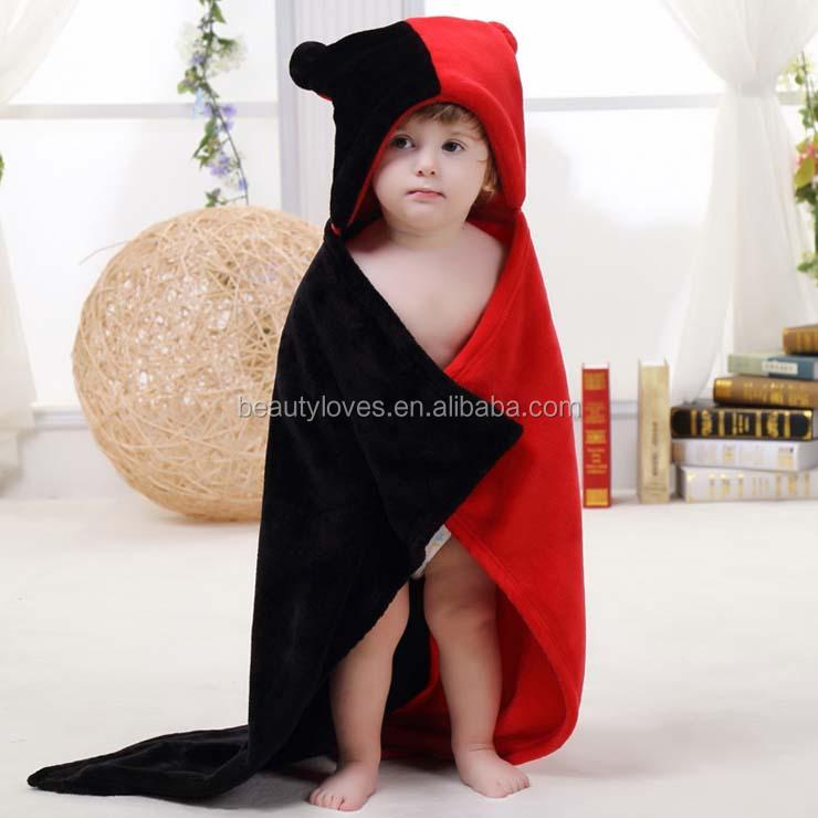 귀여운 검은 색과 붉은 색 플란넬 담요 쌍둥이 아기 까마귀-담요 ...