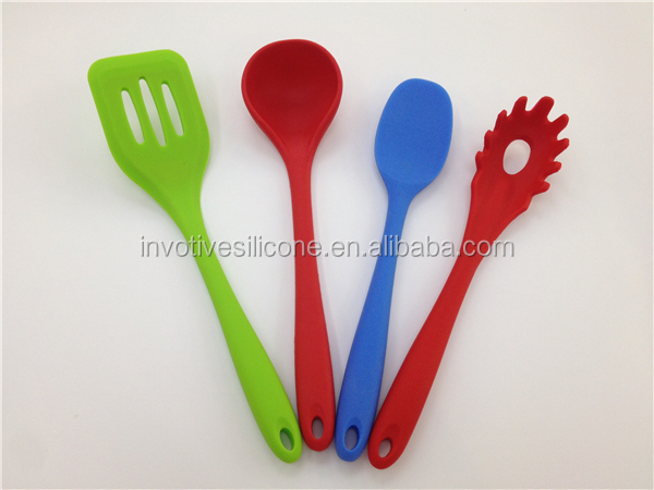 High quality Non-stick FDA/LFGB food grade silicone utensil set