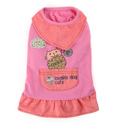 Недавно дизайн собака платье хлопок юбки принцесса ну вечеринку платья для мелких домашних животных одежда
