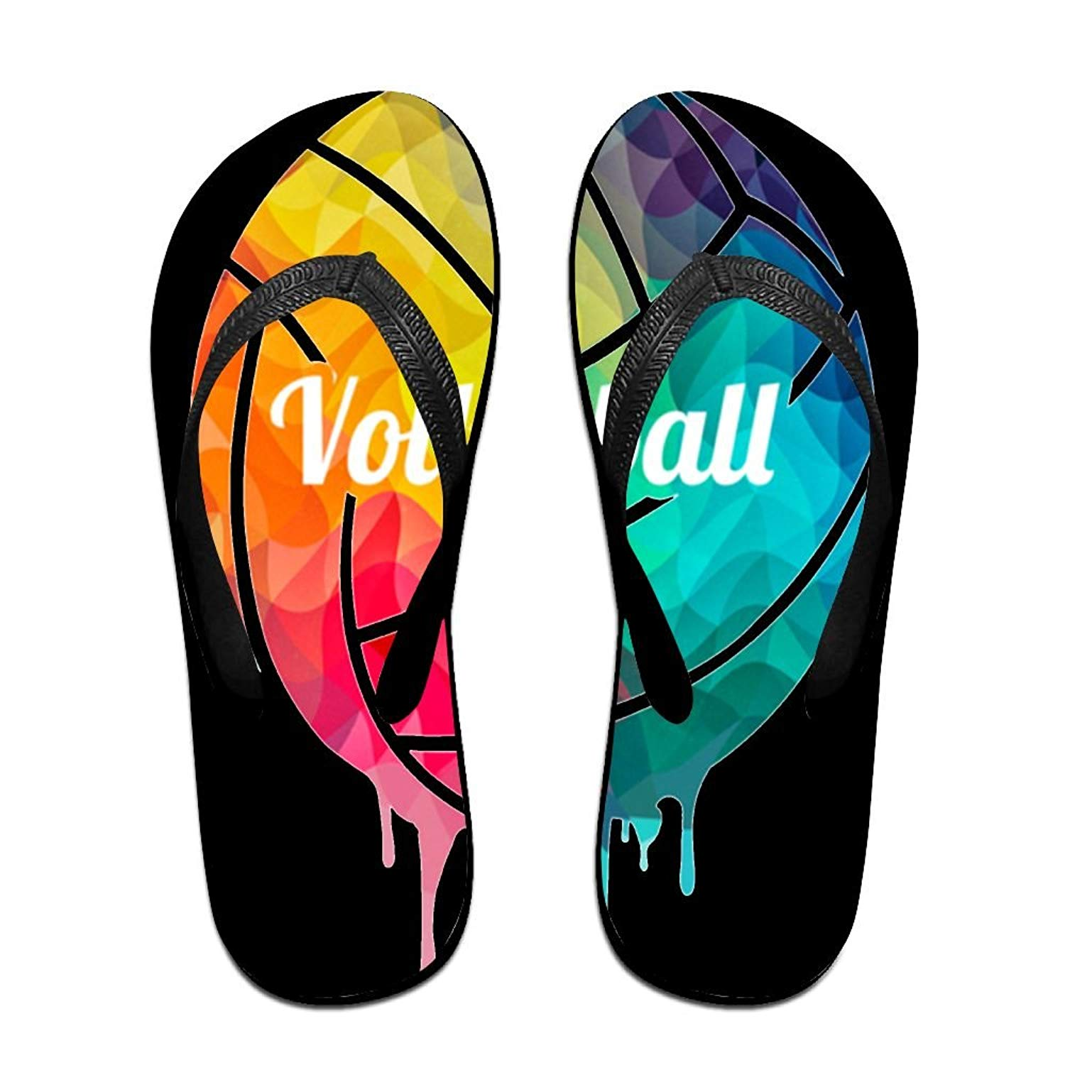 36d970e7d Get Quotations · Tailing Flip Flops Volleyball Painting Unisex Trendy Print  Slippers Beach Sandal