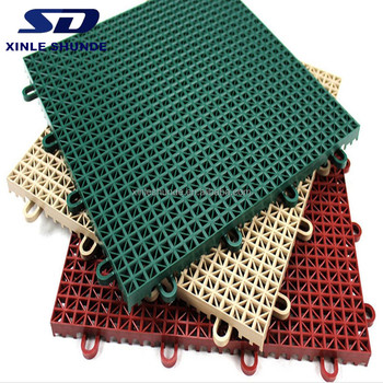 Pvc Outdoor Interlocking Plastic Floor Tiles