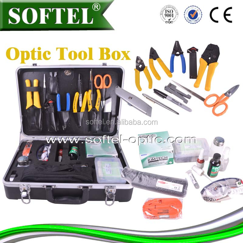 34PCS Fiber Optic Termination Kit, network tool kit (For SC/ST/FC and LC Connectors)