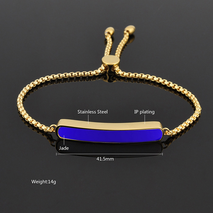 2017 New products Gemstone Charm Bracelet 24 Carat Gold Womens Fashion Bracelet